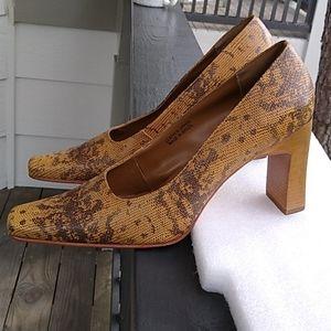 Bisou Bisou High Heels 8.5 M Phyton Leather Pumps